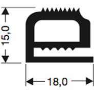 Siliconenprofiel 41-Sil