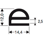 Siliconenprofiel 43-Sil